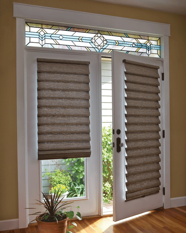 Decorating window covering for door : Be in Control: Window Coverings for Your Doors