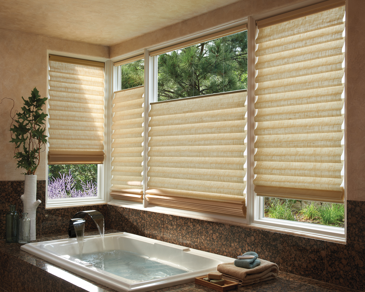 Style comfort and convenience are yours with roman for Shades and window treatments